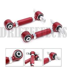REV9 REAR CAMBER ARM INTEGRA 90-01 CRX CIVIC 88-00 DEL SOL RED SPHERICAL BEARING