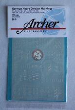 Archer 1/35 German Heer Panzer Division Markings WWII No.1 (White) AR35080W
