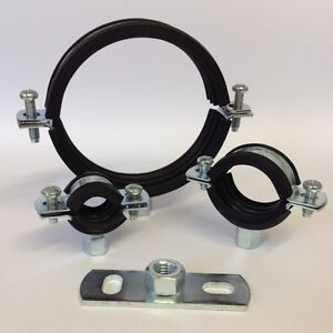 Rubber Lined Munsen Rings & optional Backplate - Pipe Hanger, Clamp, Bracket