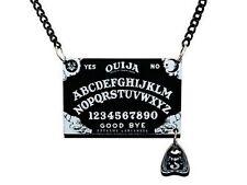 Charmed collier ouija en perspex avec chaine noire pendentif ouija board pendant