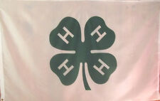 New 4-H Flag - Clover - 3' X 5' Polyester