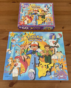 Vintage Pokemon 60 Piece MB Puzzle Gotta Catch 'Em All Hasbro 1999