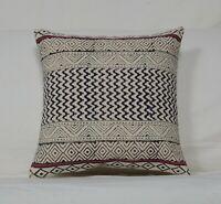 Vintage Indigo Newport Damask Print.Pillow Cover.Cotton.Made in USA.Select size