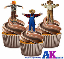 Farmer Farming Scarecrow Birthday Party 12 Cup Cake Toppers Edible Decorations