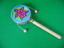 "Cayman Islands Souvenir Small Tik Tak Prayer Drum Lovely Tone  8.5"" long *VGC*"
