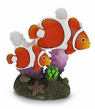 décoration aquarium poisson clown et corail ornement Penn Plax RR1102