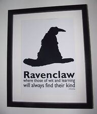 Harry Potter Inspired Sorting Hat - Ravenclaw Picture - A4 Art Print / Poster