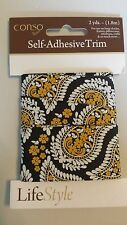 "Conso Self-Adhesive Trim LifeStyle 1 1/2""  2 yards Paisley design"
