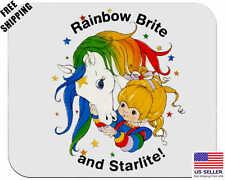 Rainbow Brite and Starlite!, Classic 80's,Birthday,Gift, Mouse Pad, Non-Slip,USA