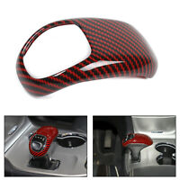 Red Carbon Gear Lever Shift Knob Cover Trim For  Grand Cherokee 2014 2015 T5