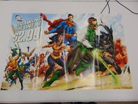 DC COMICS DRAWING THE LINE AT 2.99 JLA BATMAN COVER POSTER PROMOTIONAL  GM1161
