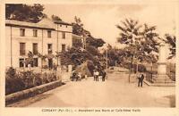 CPA 66 CORSAVY MONUMENT AUX MORTS ET LE CAFE HOTEL VAILLS