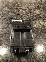 CUTLER HAMMER 15 AMP 2 POLE CIRCUIT BREAKER BA215 120/240 VAC TYPE BA