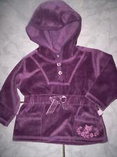 Süßer Kaputzen-Pullover, Nicki-Pulli, beerenfarben Gr.68