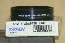"""Tiffen 58 M-7 Screw-In Lens Adapter with Retaining Ring """"New Old Stock"""""""