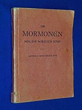 1947 Mormons As They Really Are:  Judgements and Reports German LDS Booklet