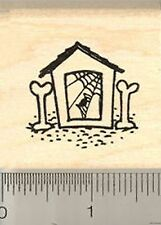 Haunted Dog House Rubber Stamp Halloween WM D7303