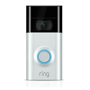 Ring Video Doorbell 2 1080p HD Wire Free Security Camera Night Motion Vision