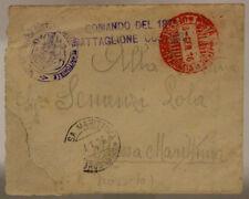 POSTA MILITARE 5° CORPO D'ARMATA 3.1.1916 BUSTA CON TIMBRO ROSSO #XP214E