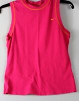 Nike Womens Golf Pink Sleeveless Polo Top  Athletic Wear Shirt
