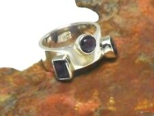 AMETHYST   Sterling  Silver  925  Gemstone  RING  -   Size : N