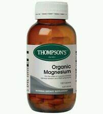 THOMPSON'S ORGANIC MAGNESIUM 120 Tablets  with Vitamin B6 - OzHealthExperts