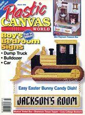 Plastic Canvas World Magazine ~ March 1998, 16 plastic canvas projects