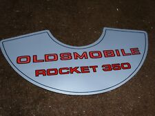 1969 1970 1971 1972 OLDSMOBILE ROCKET 350 4BBL AIR CLEANER TOP LID DECAL 11 INCH