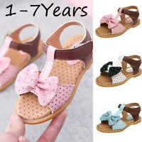Toddler Infant Kids Baby Girls Butterfly-Knot Single Princess Shoes Sandals