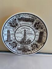 Vintage Early 1980's Chicago Illinois State Souvenir Collector Plate