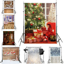 Christmas Photo Photography Props Background Cloth Vinyl Backdrop Studio Snow  K