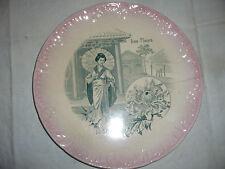 Assiette Sarreguemines - Les Fleurs Le Chrysanthème japonaise ombrelle Rose