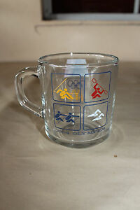 1984 Olympics McDonald's Glass Mug LA Olympic Commitee Los Angeles Swimming