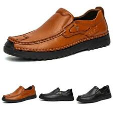Mens Business Leisure Faux Leather Shoes Pumps Slip on Breathable Flats Casual L