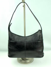 Kenneth Cole Reaction Zip top Purse Handbag Black Leather Hobo Shoulder Bag