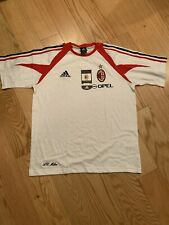 Adidas AC Milan Training Shirt Size L BNWT White 369261 Rare Cotton Blend Soccer