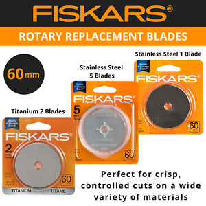 Fiskars 60mm Rotary Cutter Replacement Blades - Titanium, Stainless Steel
