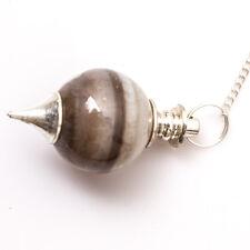Cat's Eye Stone Reiki Healing Ball Pendulum Balancing Crystal Dowser Scrying