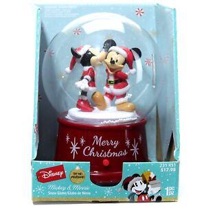 Gemmy Disney Snow Globe Minnie Kissing Mickey