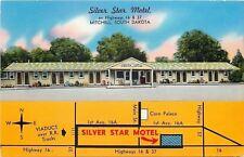 Mitchell South Dakota~Koehn Silver Star Motel~Street Map on Front~1960 Postcard