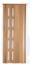 Falttür Schiebetür in 5 Farben Fenster H.201cm von 68 cm bis B.109 cm Doppelwand