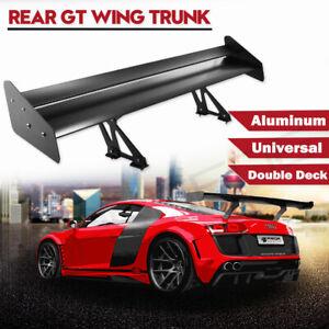 Universal Light Weight Gt Rear Trunk Double Deck Racing Spoiler Aluminum Wing