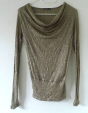 Hugo Boss dark beige top gold shimmer- Size S.Beach/dance wear