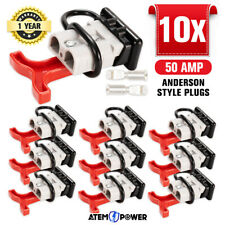 10x Anderson Style Plug Connectors 50 AMP T Handle Dust Cap Cover Solar