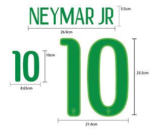 NEYMAR JR #10 Brazil Home World Cup 2014 PU SOCCER FOOTBALL PRINT