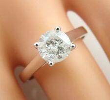 1.06 ct solitaire real diamond wedding engagement ring 18k white gold ring