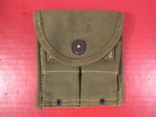 WWII M1 Carbine Magazine Belt Pouch - OD Green - Dated 1945 - Nice Cond.
