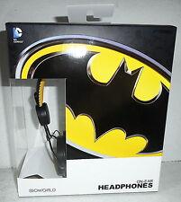 BIOWORLD BATMAN ON-EAR HEADPHONES DC COMICS EAR PAD - NEW IN BOX