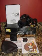 NIKON D3100 DSLR CAMERA  AF-S DX NIKKOR 18-55 VR ZOOM LENS USED IN ORIGINAL BOX