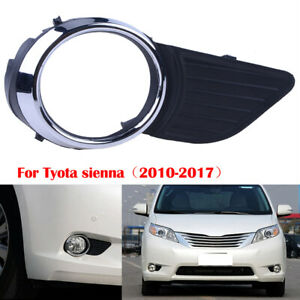 Right Chrome Trim Fog Light Grill Bumper Cover For Toyota Sienna XLE LE 11-17